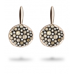 boucles oreilles or rose spring